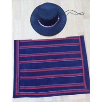 Poncho Y Gorro Huaso Traje/disfraz
