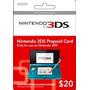 Nintendo 3ds Y Wiiu Eshop $50 Estados Unidos Prepago Tarjeta