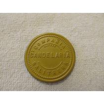 Ficha Salitrera Oficina Candelaria $ 1 Amarilla