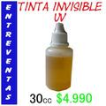 Tinta Invisible Reaccion Uv Para Marcar Entradas 30cc $4.990