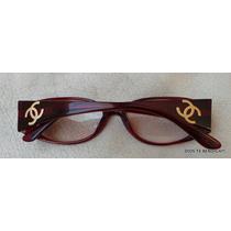 Chanel Marcos Opticos Vintages Burdeos