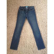 Jeans Pierna Skinny T/38 Semielasticados Tiro Regular Alto