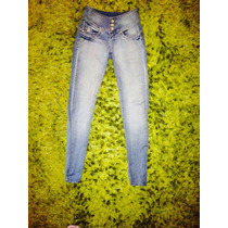 Pantalones Jeans Pitillos Wados, Tiro Alto Cintura