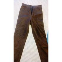 Pantalon Cuero Corte Jeans, Talla 6