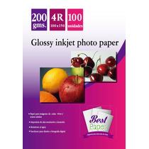 Papel Fotografico Glossy 10 X 15 De 200gr Resmas De 20 Hojas