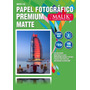 Papel Premium Matte A4 De 110gr / 100 Hojas Malik
