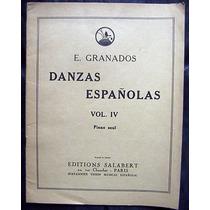 Partitura Danzas Españolas Vol. 4 Editions Salabert Paris