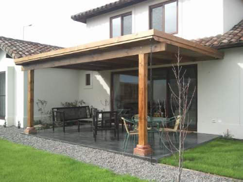 Pergolas cobertizos quinchos vitacura en for Cobertizo de madera para terraza