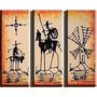 Cuadrosel Quijote Abstractos ,tripticos Decorativos $33.000