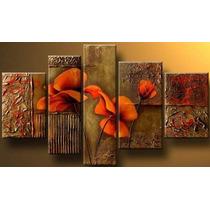 Cuadros Flores Calas Modernos,polipticos Decorativos $70.000