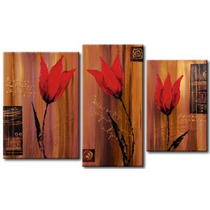 Cuadros Flores Modernos,polipticos Tripticos Decorativos