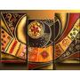 Cuadros Abstractos Modernos,triptico Oferta $30.000