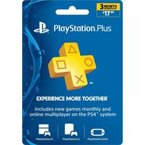 Playstation Plus 3 Meses - Ps3 / Ps4 / Psvita