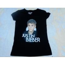 Polera Juvenil Justin Bieber Talla 16 Nueva