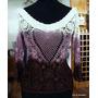 Elegante Polera Crochet Degrade Calada T/m