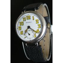 Reloj Militar Plata Solido Suizo De1915 A Cuerda 35mm