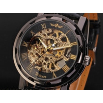 Espectacular Reloj De Hombre Modelo Exclusivo Skeleton