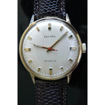 Reloj En Oro Aleman Zentra Cuerda 17 Rubi Año 60 Mecanico