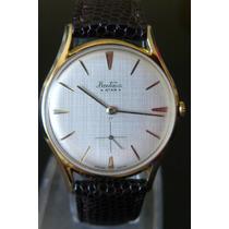 Unico Reloj En Oro Bentima Suizo A Cuerda 17 Rubis Art Deco