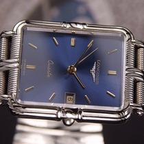 Auténtico Reloj Longines Cuadrado Azul Quartz.