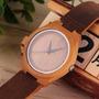 Reloj De Bamboo Bambú Madera Análogo Nuevo