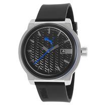 Reloj Puma Black Silicone Black Textured Dial - Hombre