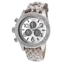 Reloj Nixon 42-20 Chrono White Genuine Python Silver-tone