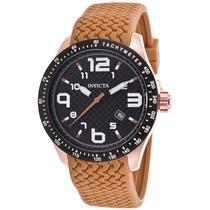 Reloj Invicta Blu Brown Silicone Black Textured Dial