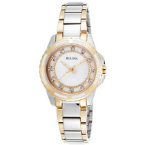 Reloj Bulova Es Diamond Two-tone Stainless Steel And Mother