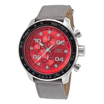 Reloj Invicta Ltd Ed. Aviator Chrono Grey Nylon Red Dial