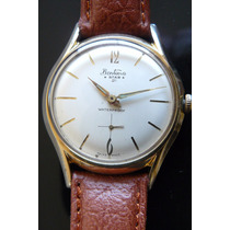 Unico Reloj En Oro Bentima Suizo A Cuerda 21 Rubis Art Deco