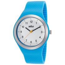 Reloj Braun Sports Blue Silicone White Dial - Hombre