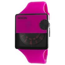 Reloj Nixon Rubber Murf Magenta Rubber Black Dial - Hombre