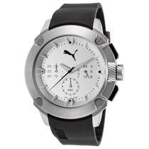 Reloj Puma Chronograph Black Silicone Silver-tone Dial -
