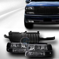 Opticos Negros + Mascara Sport Chevrolet Silverado O Tahoe