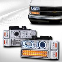 Opticos Angel Eyes+intermitentes Con Led Chevrolet Silverado