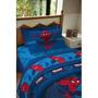 Juego De Sábanas Disney Spiderman 1 1/2 Plazas Azul