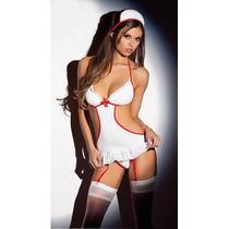Sexy Baby Doll Enfermera + Colaless, Hot Erotico Trikini