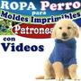 Pack Imprimible, Patrones Confeccion Ropa Para Perros + Envi