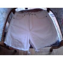 Short Jeans Blanco Vintage Tiro Alto Talla 36 Marca Tatienne