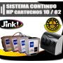 Sistema Continuo Hp C 10 - 82 Compatible Hp 500 / 510 / 800