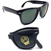 Ray Ban Rb4105 Wayfarer Negro Plegable 601 / Gafas De Sol...