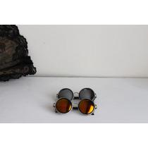 2 Gafas Lentes De Sol Steampunk Vintage Aviador Espejadas