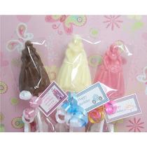 Paletas De Chocolate Cumpleaños De Princesa
