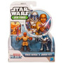 Playskool - Star Wars - Jedi Force - Mace Windu & Jango Fett