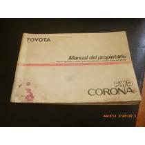 Manual Del Propietario O Conductor Toyota Corona Fwd