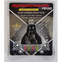 Adaptador Aaudio Doble Usb 7.1 Para Pc O Notebook
