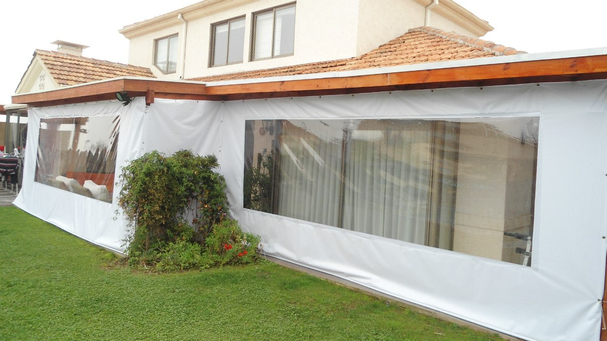 Tela de pvc cortinas panoramicas terraza quinchos pergolas - Telas para terrazas ...