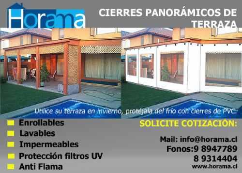 Toldos cierres panoramicos para terrazas tela pvc la for Precio de toldos de terraza