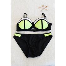 Bikinis Negro/amarillo Fluor Tallas S - M - L